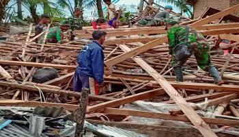 Kodam II/Sriwijaya Kerahkan Ratusan Pasukan Bantu Korban Tsunami di Lampung