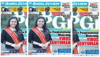 Kota Pangkalpinang Diserang Virus Senyuman? Mau Tahu Jawabannya, Baca Tabloid Babel Review Edisi 50