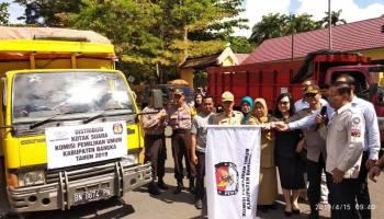 KPU Bangka Distribusikan Logistik Pemilu 2019