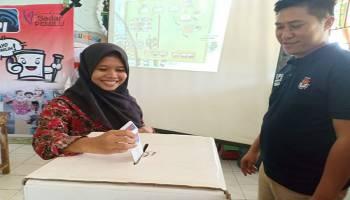 KPU Bangka Gelar Simulasi Pemilu di SMAN 1 Mendo Barat