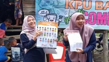 KPU Bangka Sosialisasikan Pemilu 2019 bersama Salam di Desa Tanah Bawah