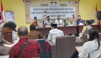 KPU Bangka Tengah Gelar Pleno Penetapan Pasangan Calon