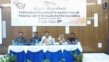 KPU Kabupaten Bangka Gelar Rakor Jadwal Kampanye