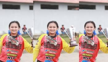 MXGP 2018 Pangkalpinang: Kroser Cantik MXGP 2018, Sheva Anela Sebut Sirkuit Sahabuddin Terbaik di Indonesia