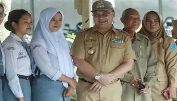 Kunjungan ke SMKN 1 Pangkal Pinang, Gubernur Babel Berencana Siapkan Lahan Untuk Penambahan Fasilitas