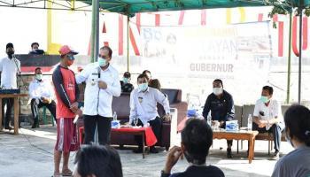 Kunjungi Bangka Barat, Gubernur Erzaldi Sosialisasikan KUR dan Berdialog dengan Nelayan