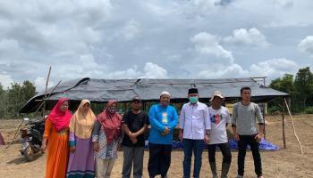 Kunjungi Pembangunan Pondok Tahfidz di Pakalen Batu, Amri Cahyadi: Mesti Kita Dukung