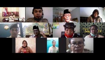 Kwarda Babel Rapat Virtual dengan Kwarnas, Peransaka Nasional akan Usung Konsep Smart Event
