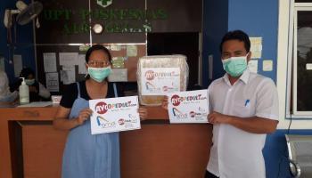 Lagi, Ayooklik.com Salurkan Bantuan Berupa APD Untuk Tenaga Medis