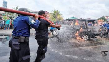 Lagi Isi BBM, Mobil Diduga Mengerit Terbakar di SPBU