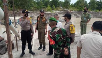 Lahan Aset Pemkab Bangka Ditambang, Satpol PP Bersama TNI Polri Gelar Razia TI