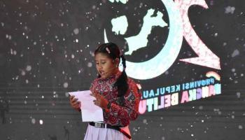 Lala dan Marscha Membacakan Surat Terbuka dalam Perayaan HUT ke-20 Babel