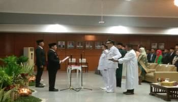 Lantik Bupati dan Wakil Bupati Belitung, Ini Harapan Gubernur Erzaldi