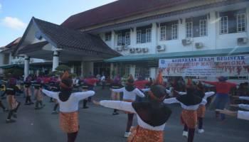 Lestarikan Budaya Lokal, Pemkab Bangka Gelar Lomba Senam Bedincak Bupati Cup 2019