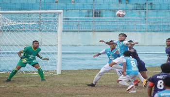 Liga 2 2019: Babel United Tumbang di Stadion Stadion Depati Amir