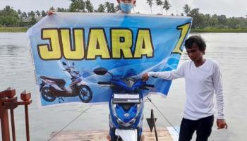 Lomba Mancing Telaga Emas, Faldi Bawa Pulang Honda Beat