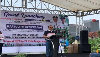 Lomba Senam Bedincak Meriahkan Grand Launching Kampung ATM di Kota Tangerang