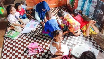 Mahasiswa KKN UBB Buka Kelas Belajar Tambahan di Kota Kapur