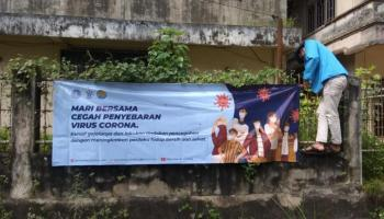Mahasiswa KKN UBB Desa Air Lintang Sosialisasi Kesehatan di Masa Pandemi