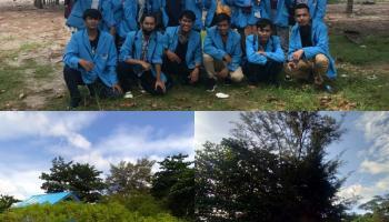 Mahasiswa KKN UBB Desa Rebo Goda Wisatawan Lewat Apotek Hidup di Pantai Rebo