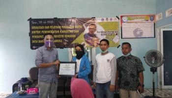 Mahasiswa KKN UBB Launching Digital Marketing Desa Banyuasin