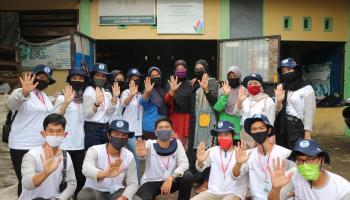 Mahasiswa KKN UBB Selindung Lama Bantu KSM Kawa Begawe Kelola Sampah Dengan Sistem 3R