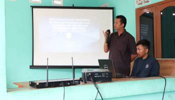 Mahasiwa KKN UBB Kenalkan Program Penyuluhan Wisata Berbasis Internet