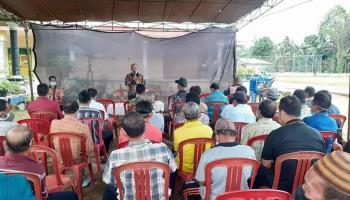Mansyah Ajak Masyarakat Desa Sinar Sari Fokus Mengelola Pertanian dan Perkebunan