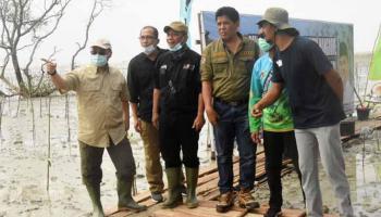 Masyarakat Batu Beriga Bersyukur Jalankan Program Padat Karya Tanam Mangrove