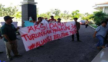 Masyarakat Datangi Kantor DPRD Belitung Minta Setarakan Gas Elpiji 3 Kg