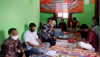 Melalui Forum Warga, Panwascam Ajak Masyarakat Kawal Pilkada Bateng