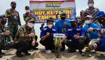 Melalui Program CSR PT. Timah Tbk, HNSI Bangka Bersama TNI Lakukan Penanaman 5.000 Mangrove