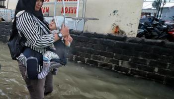 Melihat Gang Komplek Haji Usman Pangkalpinang yang Langganan Banjir