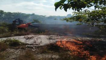Memasuki Musim Kemarau, 3 Hektare Lahan di Desa Terentang Dilalap Api