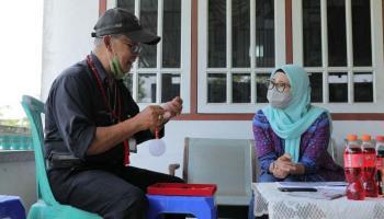 Mengenali Batu Satam Khas Pulau Belitung, Melati Kunjungi Galeri Firman