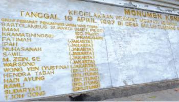 Mengenang Pesawat Jatuh di Belitung