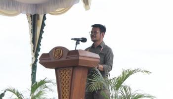 Menteri Pertanian RI Kunjungi Program Food Estate Babel
