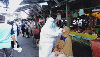Menunggu Hasil Swab Massal Dari Pasar Pagi Pangkalpinang