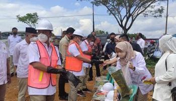 Meski Dihadiri Sekjen DPP, Peletakan Batu Pertama Kantor DPD Gerindra Digelar Sederhana dan Standar Prokes Covid-19