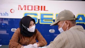 Mobil Sehat PT Timah Tbk Sambangi Desa Tepus, Warga Antusias Periksa Kesehatan
