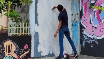 Mural Mirip Jokowi di Pangkalpinang Dihapus Satpol PP