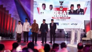 Nobar Debat Pilpres di Posko Garda Jokowi - Amin di Pangkalpinang, Ada Tamu Spesial yang Datang