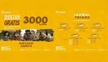 Nonton Bareng Martabak Bangka, PT Timah Bagi 3000 Tiket Gratis.