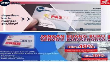 Pakai Member Card Honda Daya Motor Pangkalpinang, Banyak Untungnya...