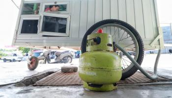 Pangkalan Elpiji H Yusuf Desa Neknang Jual Gas Melon Rp 20 Ribu per Tabung
