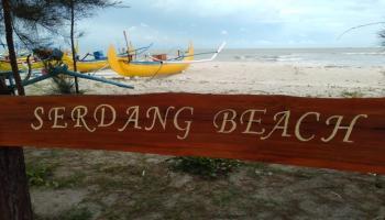 Pantai Serdang Favorit Wisatawan, Di Sini Bisa Nikmati Kopi Manggar