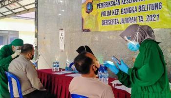 Pastikan Anggota Sehat, Polres Bangka Gelar Pemeriksaan Kesehatan Berkala