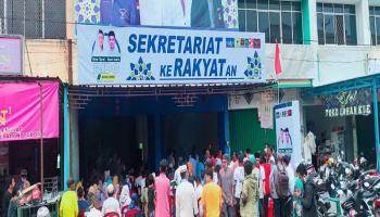 Pecah, Ratusan Pendukung Hadiri Deklarasi Bapaslon Rina - Doni di Toboali