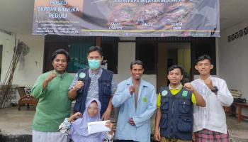 Peduli Bencana Alam, BKPRMI Bangka Galang Donasi Rp 37 Juta