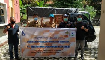 Peduli Covid-19, PT. CPJF Bersama Dinas Pertanian Bangka Salurkan Bantuan 80.982 Telur